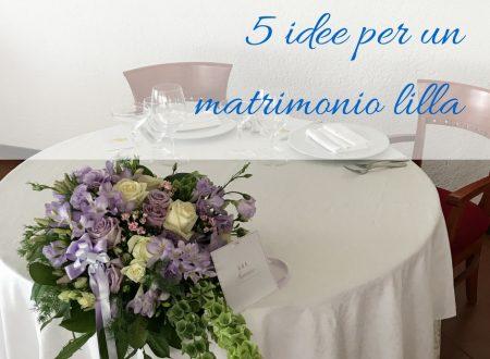 5 idee per un matrimonio lilla