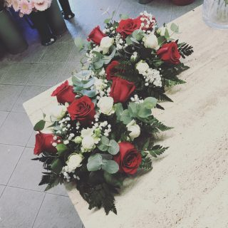 Composizione fiori per cimitero